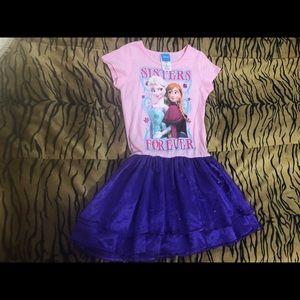 Frozen dress size 7/8